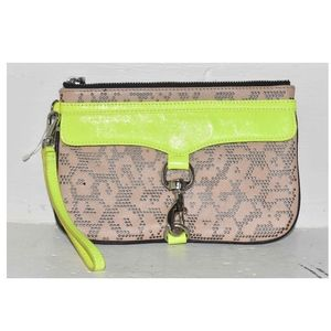 Rebecca Minkoff Leather Neon Clutch!